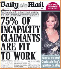 benefit scroungers headline
