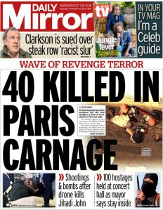 Terrorism with a television magazine, again.